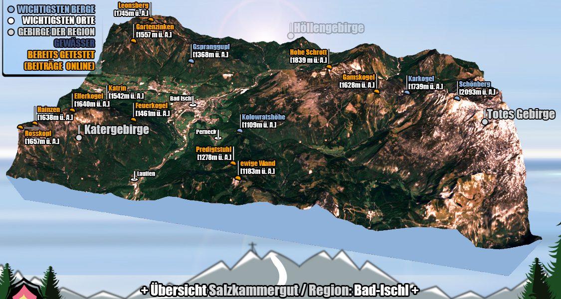 3D Darstellung der Salzkammergut Region Bad Ischl
