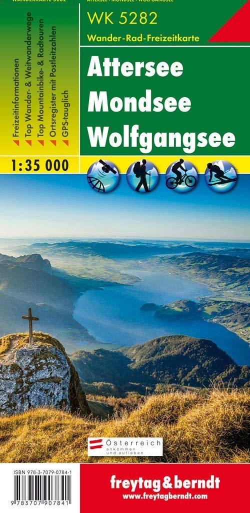 Attersee - Mondsee - Wolfgangsee, Wanderkarte